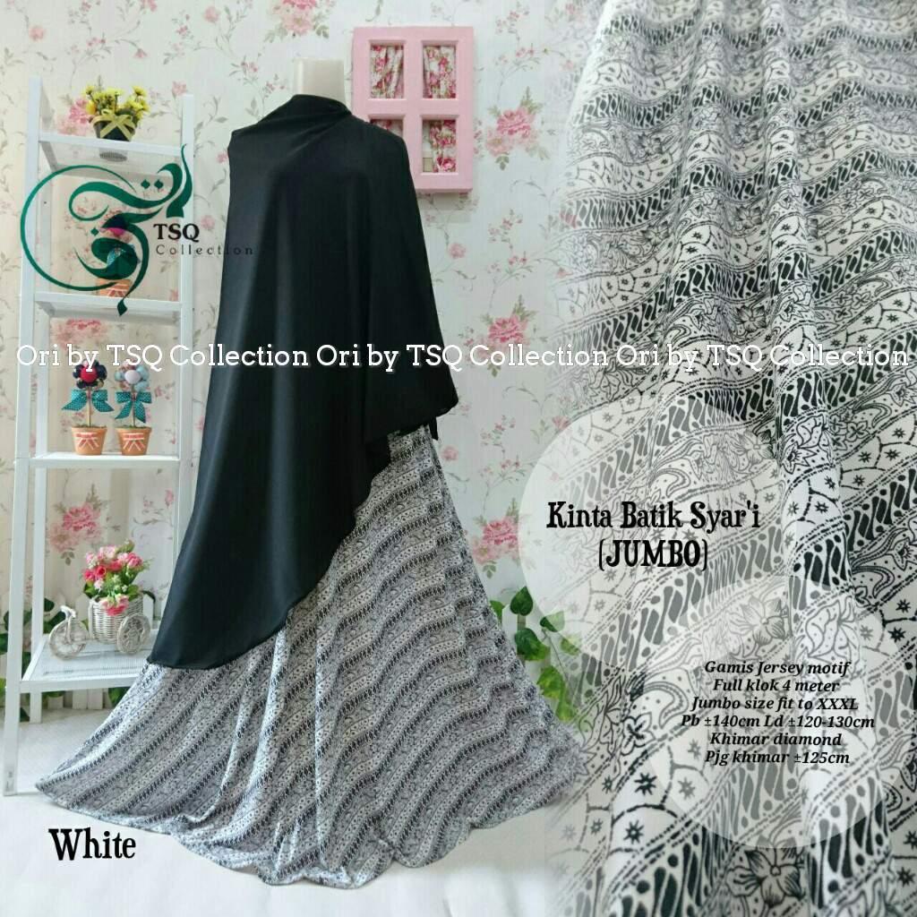 Gamis Jumbo B135 Kinta Syar 39 I Batik Baju Muslim Jersey