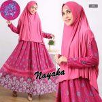 gamis-modern-terbaru-nayaka-syari-pink