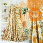 rosita syari soft orange gamis motif bunga
