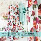 Gamis Cantik Big Rose Syar'i Motif Bunga