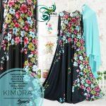 gamis cantik kimora soft blue