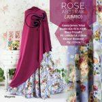 gamis jumbo rose abstrak magenta
