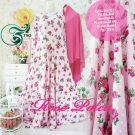 Gamis Cantik Rose Polka Motif Bunga