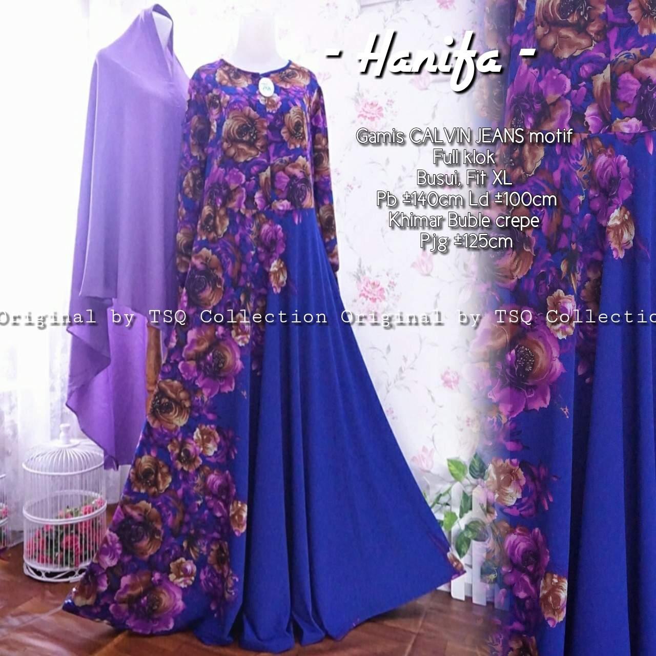 Gamis Syar I Hanifa Calvin Jeans Baju Muslim Cantik Butik Jingga