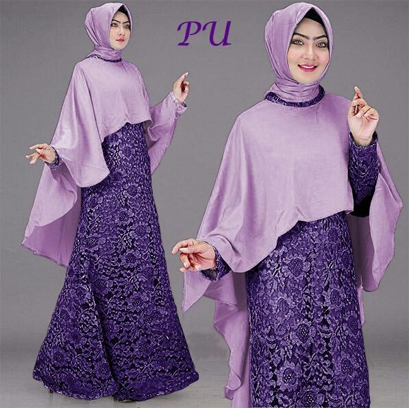 baju pesta brokat naswa ungu
