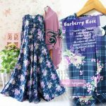 gamis jersey burberry rose navy