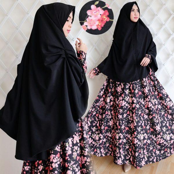 Grosir Baju Gamis Bahan Katun Jepang Hijab Nemo