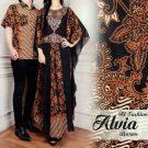 Baju Batik Couple Alvia Brown