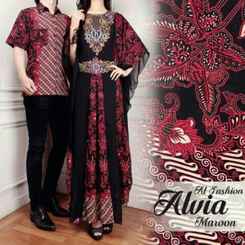 batik couple alvia marun