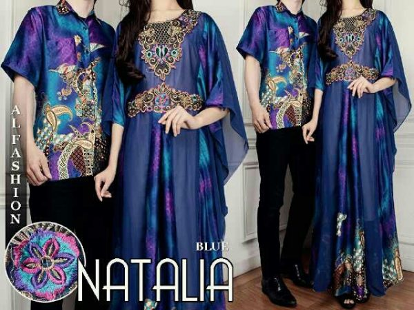 batik couple natalie biru