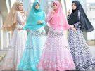 Gamis Crepe Alisha Hijab Set
