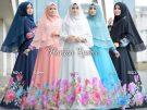 Gamis Cantik Hanisa Hijab Set