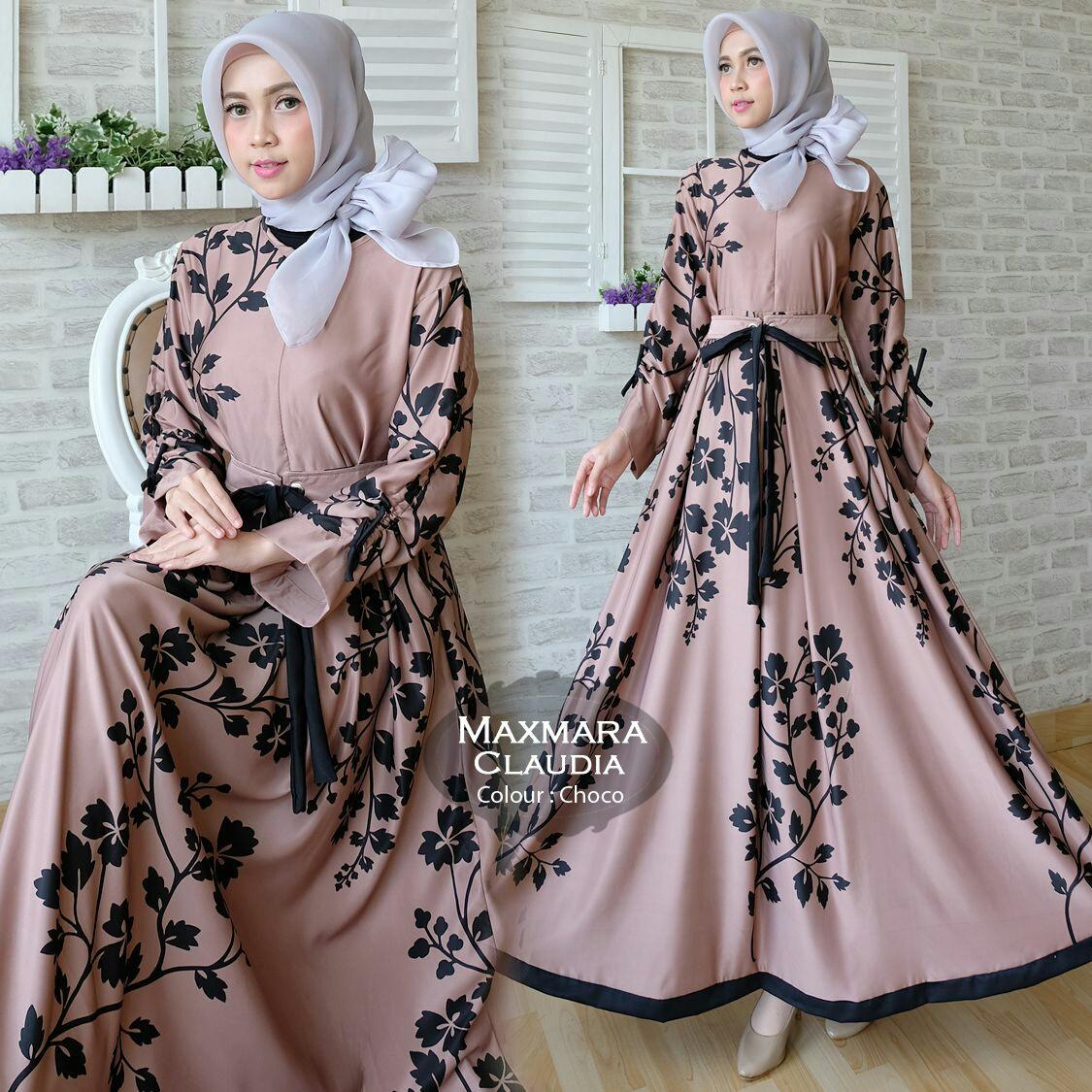Gamis Modern Claudia Maxi Maxmara - Baju Muslim Cantik - Butik Jingga