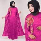 Baju Pesta Nadia Brokat Mix Jersey
