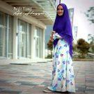 Gamis Syar'i Cantik Purple Flower