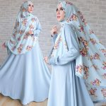 gamis wolfis bubble soft blue