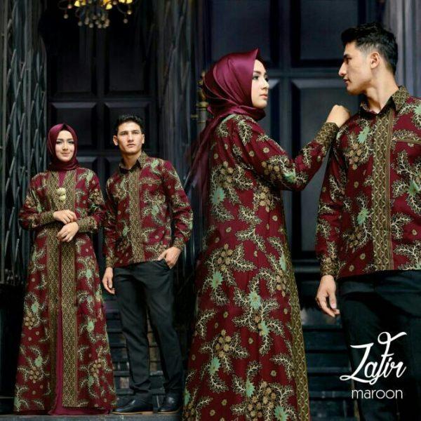 batik couple zafir maroon