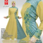 gamis pesta raina gold