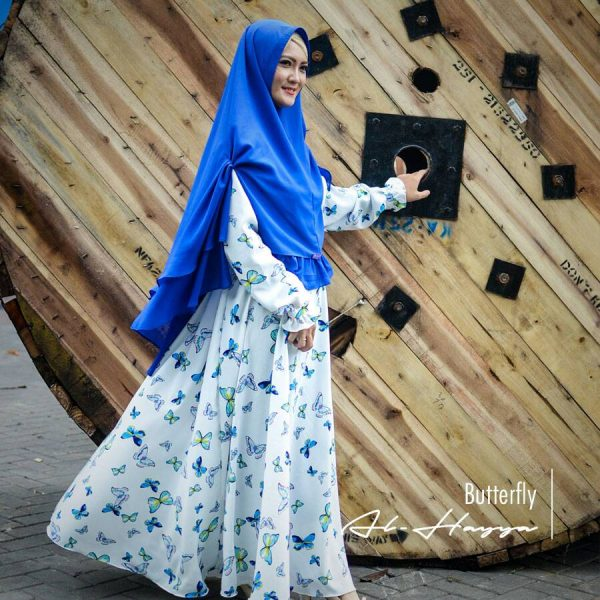 gamis syar'i butterfly premium