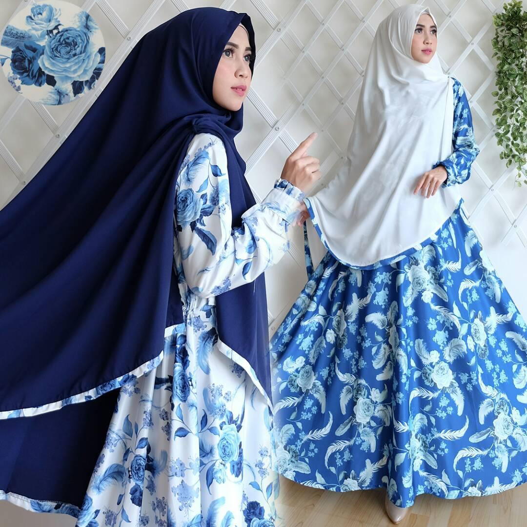Baju Gamis Couple Jumbo Hijab Nemo