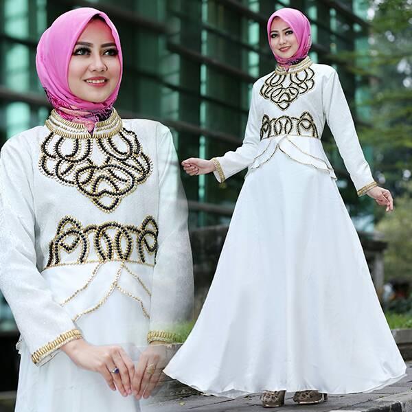 Baju Pesta New Talita Satin Gamis Jaguard Payet Cantik