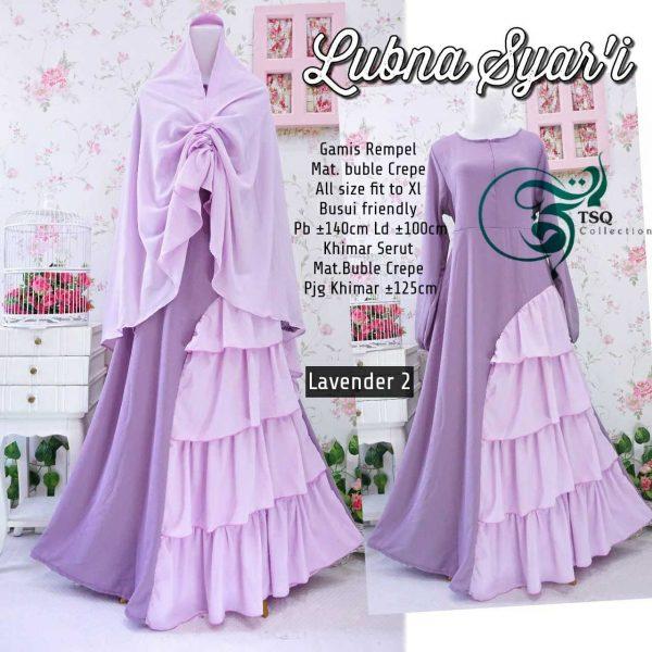 Gamis Cantik Lubna Syar'i Lavender