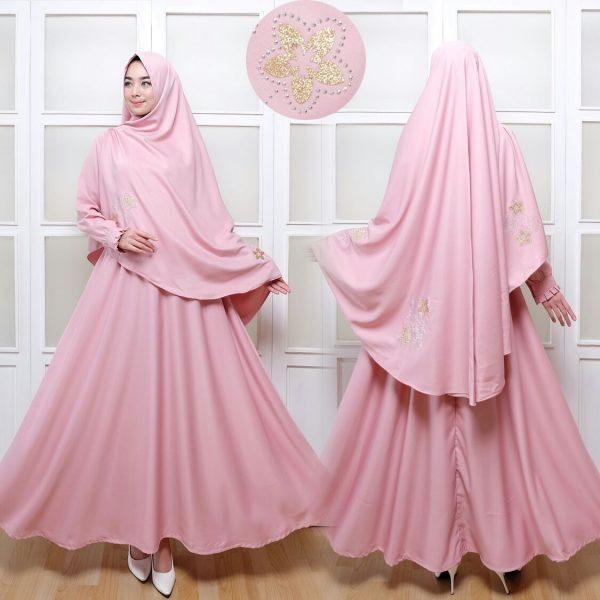 Gamis Syar'i C004 Baloteli Pink