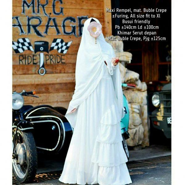 Gamis Syar'i Lubna Putih