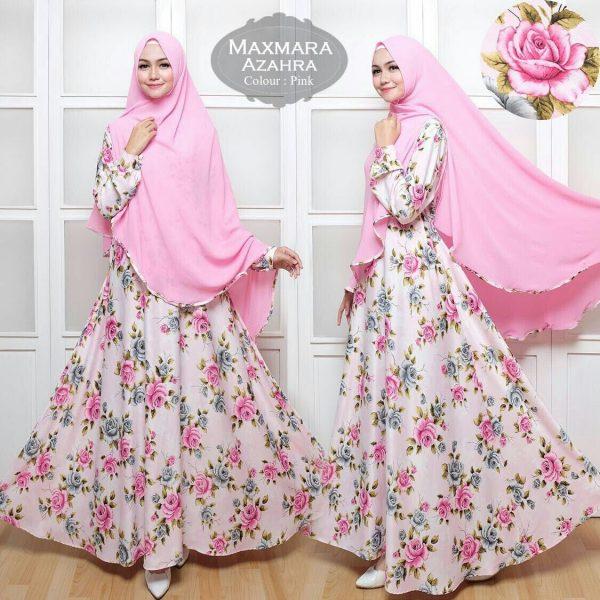 Gamis Azahra Syar'i pink