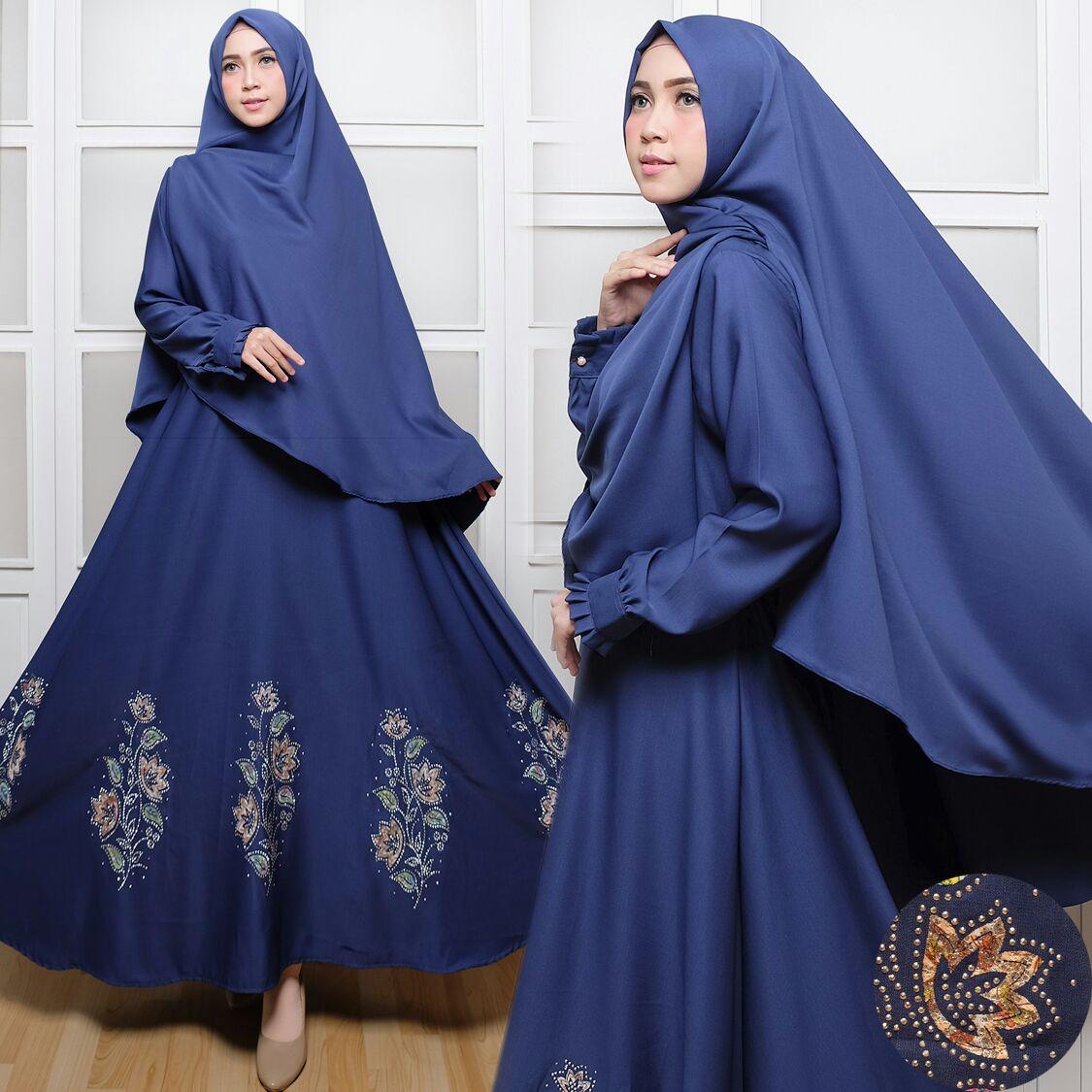 Gamis Syar I C017 Baloteli Payet Baju Muslim Cantik Butik Jingga