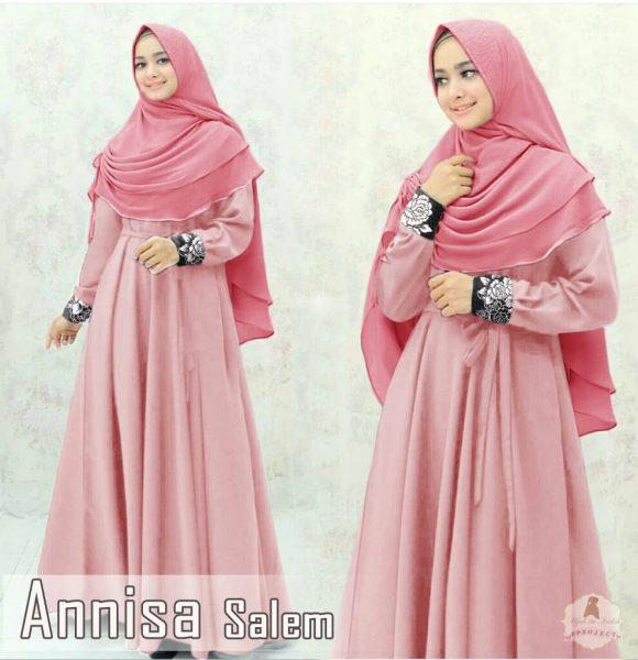 Gamis Cantik Annisa Syar'i Pink Salem