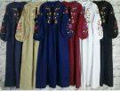 Gamis Remaja Terbaru Dress Katun Bordir BC015