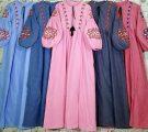 Gamis Remaja Terbaru Dress Katun Bordir BC016