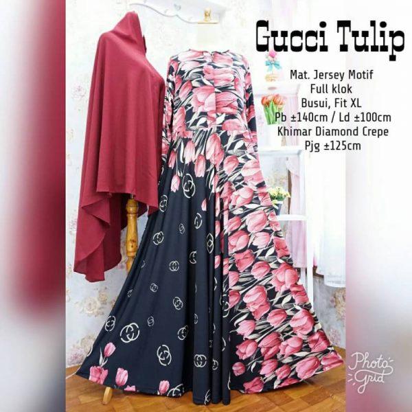 Gamis Gucci Tulip Maron