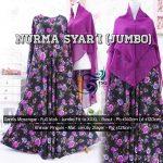 Gamis Nurma syar'i jumbo Black - Purple