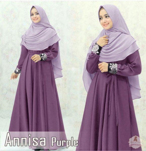 gamis modern annisa syar'i purple