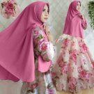 Gamis Cantik Gita Syar'i Motif Bunga