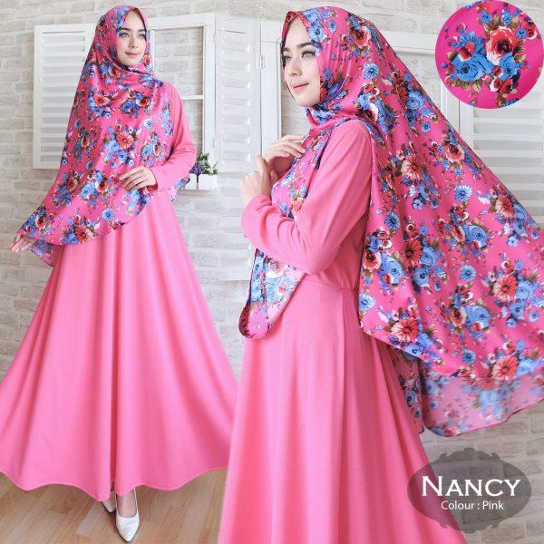 Gamis-Cantik-Nancy-Misbee-Pink