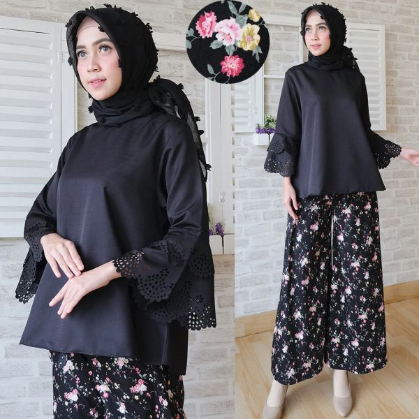 Baju-Setelan-Kulot-CS021-hitam