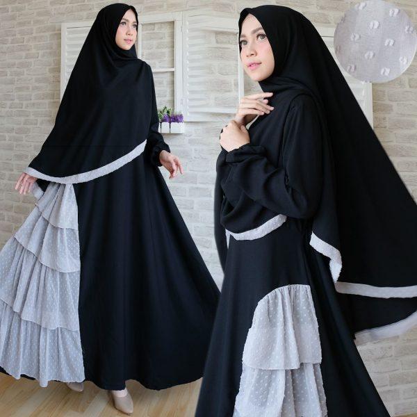 Syar 39 I Wolly Crepe Rempel Rubiah Model Baju Gamis Terbaru