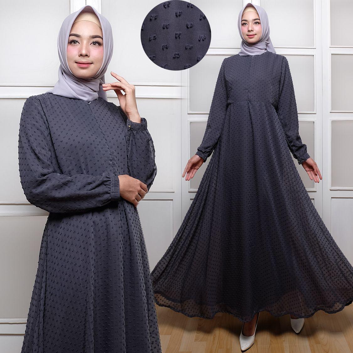 Baju Gamis Polos Terbaru Rubiah Maxi Trend Busana Muslim Butik