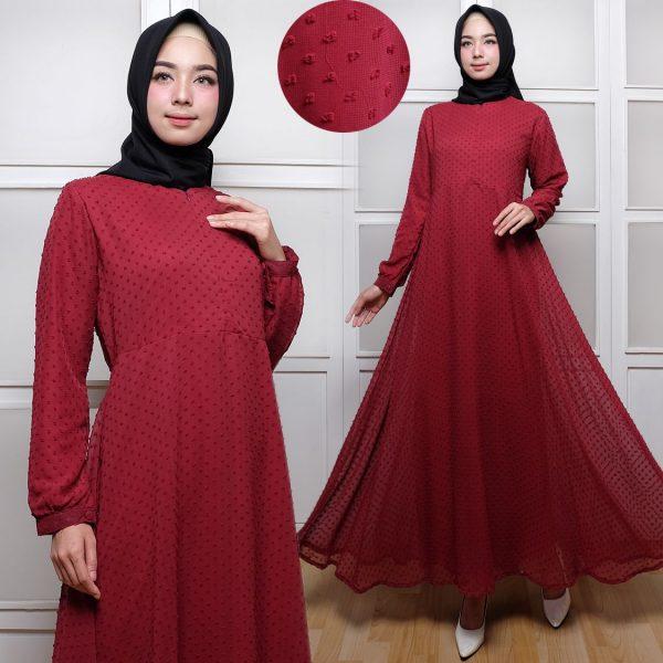 Baju Gamis Polos Terbaru Rubiah Maxi Trend Busana Muslim