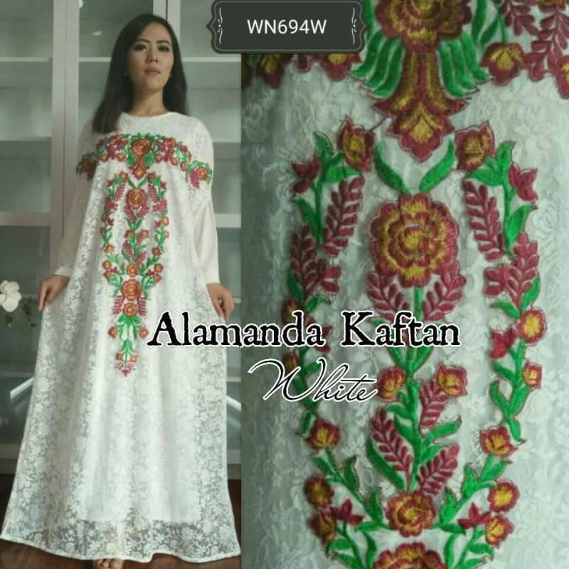 70 Baju Gamis Batik Marun Kombinasi White Yang