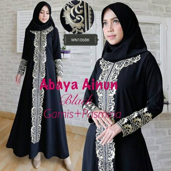 Baju Gamis Pesta Abaya Ainun Busana Muslim Pesta