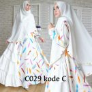 Baju Muslim Syar'i Putih Cantik C029
