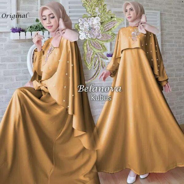 baju muslim modern belanova kuning