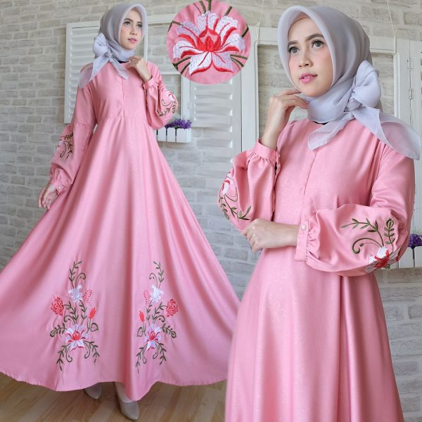 Maxi Dress Baloteli Bordir C039 Gamis Modern Model Terbaru