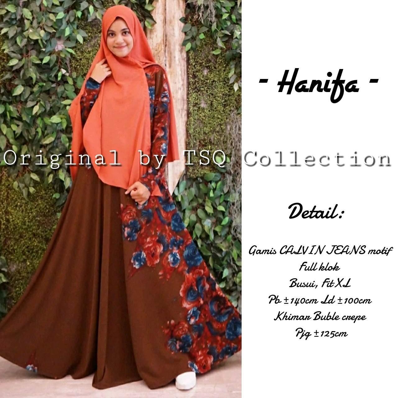 Gamis Syar 39 I Hanifa Calvin Jeans Baju Muslim Cantik
