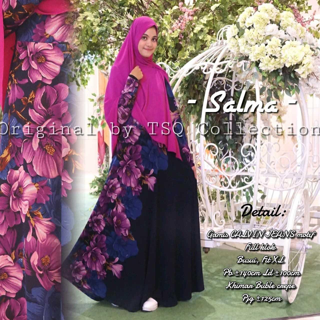 Gamis Calvin Jeans Salma Syar 39 I Baju Muslim Ukuran Besar
