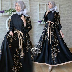 Baju Gamis Modern Jasmine Maxi Busana Muslim Remaja